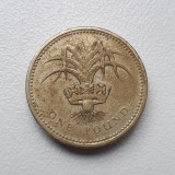 Moneda 1 pound/ lira 1990 Marea Britanie, Leek Wales, Europa