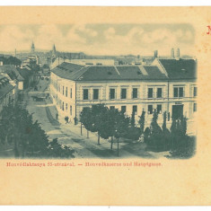4810 - ORADEA, Military barracks,  Litho, Romania - old postcard - used - 1899