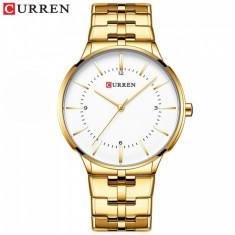 Ceas de mana barbati business, elegant, Curren Gold - M8321AGOLD