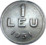 Romania, 1 leu 1951 * cod 38, Aluminiu