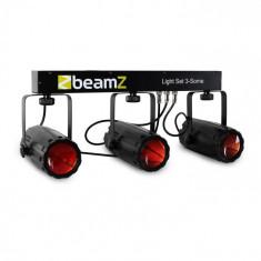 Beamz 3-Some, set de iluminat, 4 părți, cu LED-uri