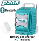 Cumpara ieftin Boxa portabila / radio cu acumulator 20V, 3W, Bluetooth 4.0, TOTAL (TJRLI-2001) (fara acumulator si incarcator)