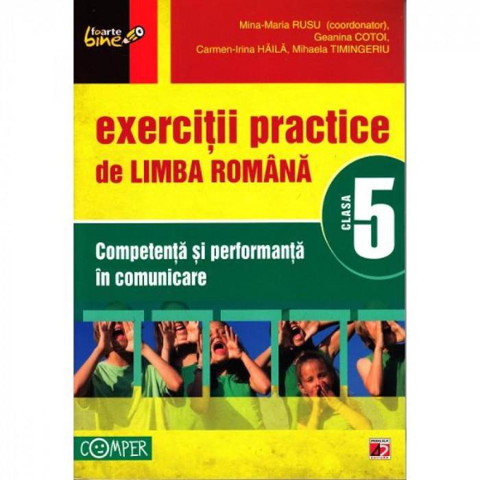2012 Exercitii practice de Limba Romana cls 5 - Mina-Maria Rusu, Geanina Cotoi
