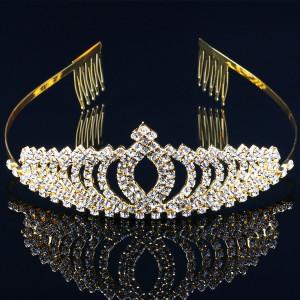 Diadema / Tiara mireasa Secret Charm Gold