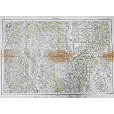 HARTA ZONEI DRAGASANI , VALCEA , SCARA 1 / 100.000 , POLICROMA , TIPARITA IN ANUL 1939