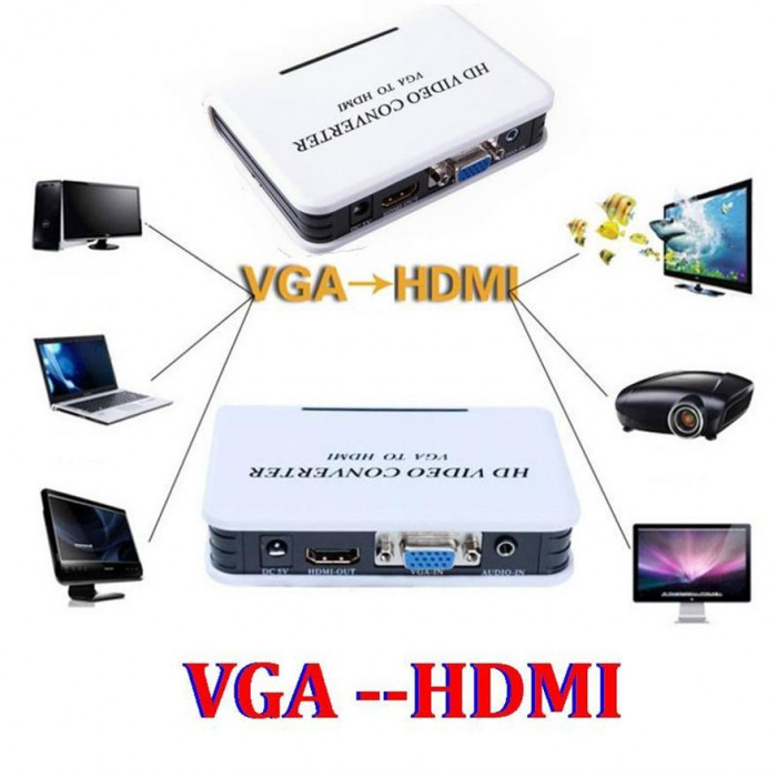 HD Video Converter VGA to HDMI Cu Audio - 256