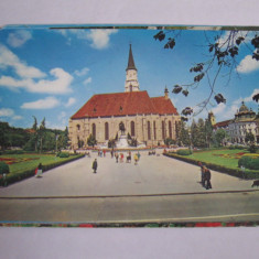 Carte postala - Cluj Napoca (Piata Libertatii), Circulata, Fotografie