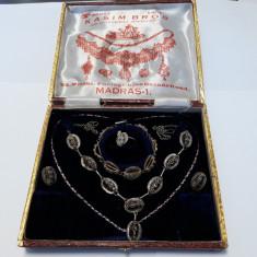 argint COLIER BRATARA INEL CERCEI in FILIGRAN  set EXCEPTIONAL cutie ORIGINALA