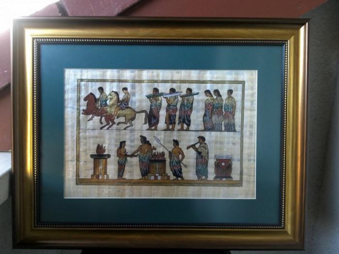PAPIRUS  VECHI  LUCRAT IN FOITA DE AUR
