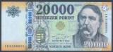 UNGARIA █ bancnota █ 20000 Forint █ 2020 █ P-207d █ UNC █ necirculata
