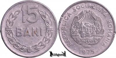 1975, 15 Bani - RSR - Romania foto