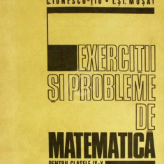 Exercitii si probleme de matematica pentru clasele IX-X