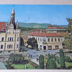 Caransebes - Vedere spre parc si Primaria - vsdere circulata 1978