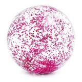 Minge pentru plaja Glitter Ball Intex, 71 cm, glitter roz
