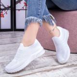 Pantofi sport dama albi Acarada