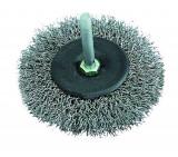 Perie sarma otel tip circular cu tija 60mm