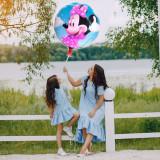 Balon Minnie Mouse, rotund 44 cm, din folie pentru heliu sau aer