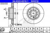 Disc frana SEAT ALTEA (5P1) (2004 - 2016) ATE 24.0322-0210.1