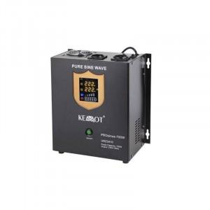 UPS pentru centrale termice Kemot PROsinus-500 LED Sinus Pur 500W Negru