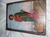 Icoana veche lemn,icoana pictata de lemn,Semnata/datata,stare cum se vede,T.GRAT