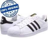 Pantofi sport Adidas Originals Superstar pentru barbati - adidasi originali, 40 2/3, Alb, Piele naturala