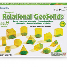 Forme geometrice GeoSolids - 14 piese PlayLearn Toys, Learning Resources