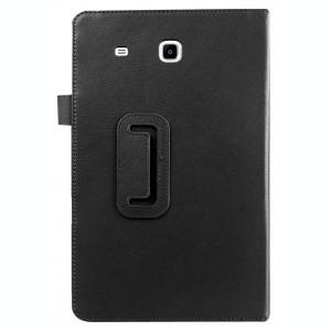 Husa tip carte neagra (textura Litchi) cu stand pentru Samsung Galaxy Tab E 9.6 T560 / T561