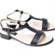 Sandale dama din piele naturala box - S16NBOX, 35 - 41, Alb, Bej, Bleumarin, Maro, Negru, Rosu