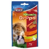 Trixie Drops Vitaminizat cu Morcov Rozatoare 75 g 6023