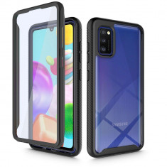 Carcasa 360 grade TECH-PROTECT Defense Samsung Galaxy A41 cu protectie display, Negru
