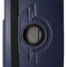 Husa tip carte albastru inchis cu stand rotativa pentru Asus MeMO Pad 8 ME180A