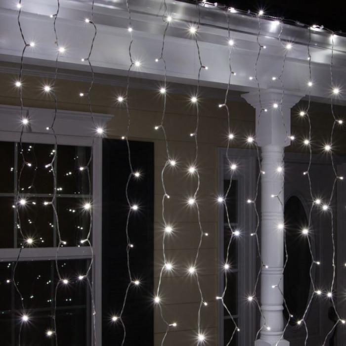 Perdea luminoasa 600 LED-uri, 2x3 m, lumina statica, IP 44, alb rece