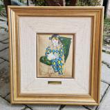Set 4x Tablouri(reproduceri),pictori celebrii, rama lemn, 34x31cm, Van Gogh, Picasso, Renoir, Degas