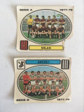 2 stickere fotbal Panini Calciatori 1977-78, Ascoli, Milan