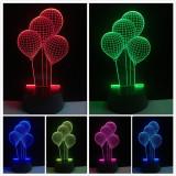 Lampa de Veghe cu Baterii/USB 3D Model Baloane Multicolor