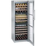 Vitrina pentru vin WTes 5872, 496 L, Clasa G, Iluminare LED, SoftSystem, Inox, Liebherr