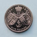 MAREA  BRITANIE  -  5 Pounds 1997  -  Golden Wedding  -  aUNC