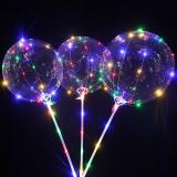 Balon Bobo luminos, 50 LED-uri multicolore, diametru 35 cm, 3 moduri iluminare