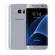 Folie Samsung Galaxy S7 Edge TPU Silicon FullcoverFata+Spate Clear Ecran Display LCD