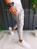 Pantaloni VAGABOND - de trening pentru barbati - slim fit - gri - A6396
