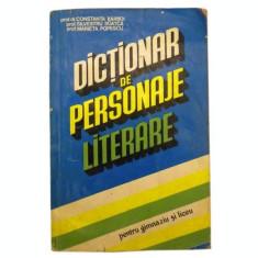 Dictionar de personaje literare - Constanta Barboi, Silvestru Boatca si Marieta Popescu