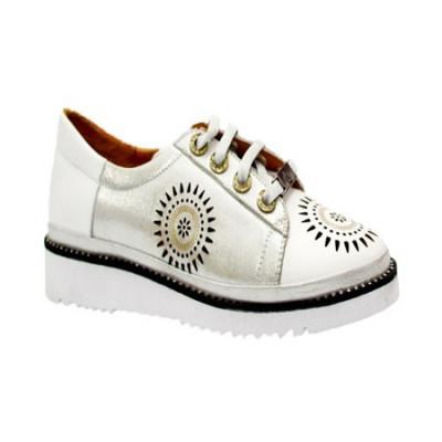 Pantof tineresc cu siret reglabil si design deosebit din perforatii foto