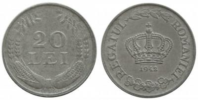 y121 ROMANIA 20 LEI 1942 UNC NECIRCULATA foto