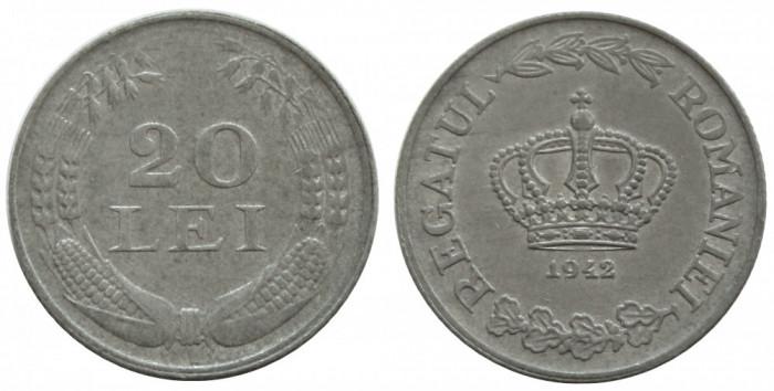 y121 ROMANIA 20 LEI 1942 UNC NECIRCULATA