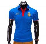 Cumpara ieftin Tricou pentru barbati polo, albastru, logo piept, slim fit, casual - S505
