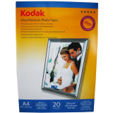 Hartie foto Kodak Ultra Premium High Glossy A4 RC, 270 g/mp, 20 coli/pachet