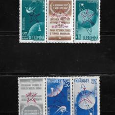 ROMANIA 1958 - SATELITII ARTIFICIALI AI PAMANTULUI, SUPRATIPAR, MNH - LP. 459 a