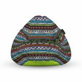 Cumpara ieftin Fotoliu Units Puf (Bean Bag) tip para, impermeabil, cu maner, 80 x 90 x 68 cm, tribal aztec