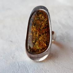 INEL argint cu CHIHLIMBAR splendid OPULENT de efect ELEGANT impecabil