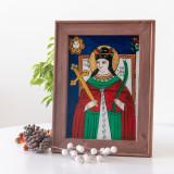 Sfânta Cuvioasă Parascheva(Nicula,mijloc sec.XIX)-Icoană pictată pe sticlă